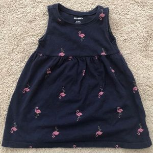 Old Navy Flamingo Toddler Girls Fit & Flare Dress